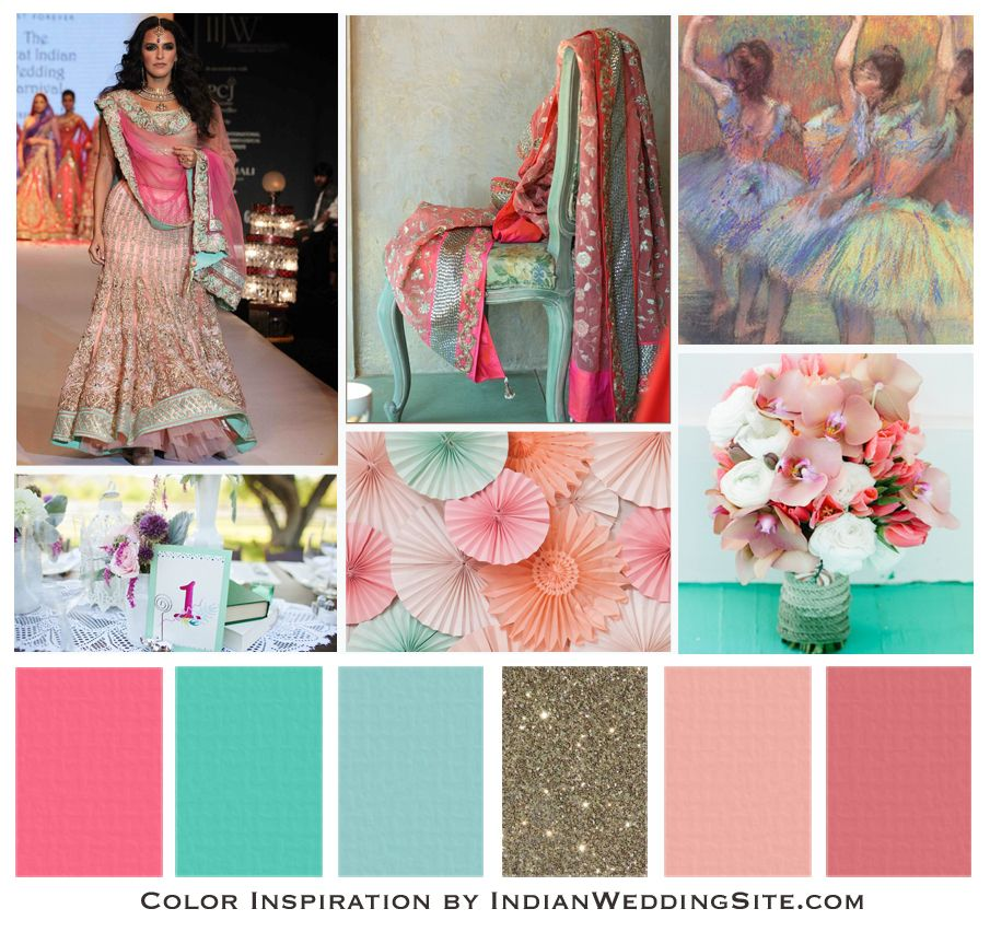Rose Seagreen Skyblue Gold Blush Colors Use The Payal Singhal