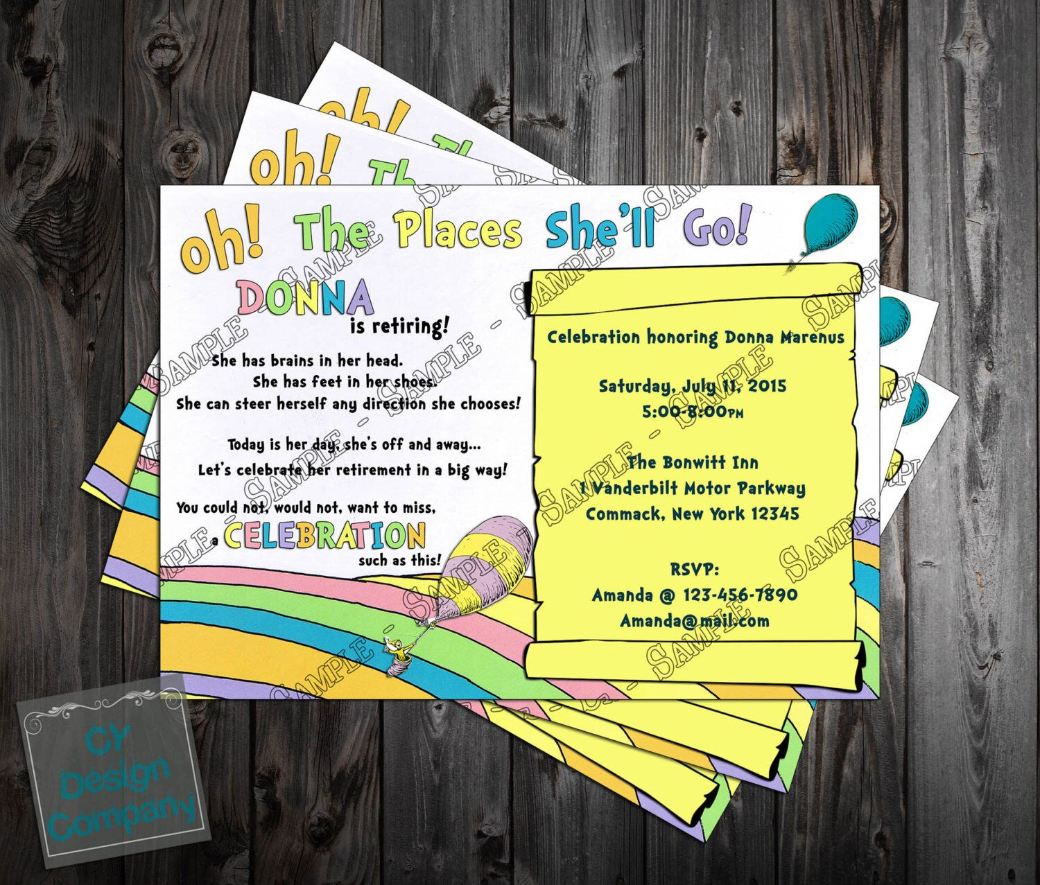 Oh the places youll go retirement party invitation printable by cards negle Images