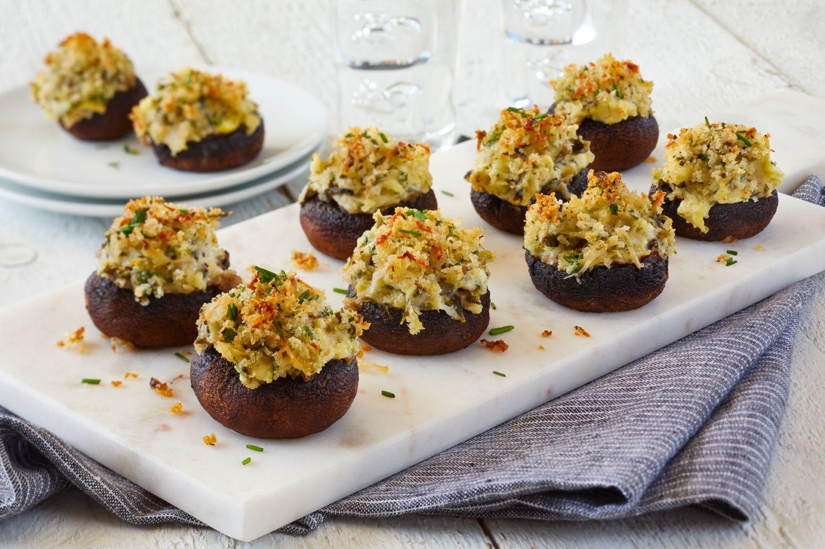 Easy Elegant Stuffed Mushrooms In 2021 Jerf Recipes Recipes Appetizer Recipes Artichoke parmesan stuffed mushrooms