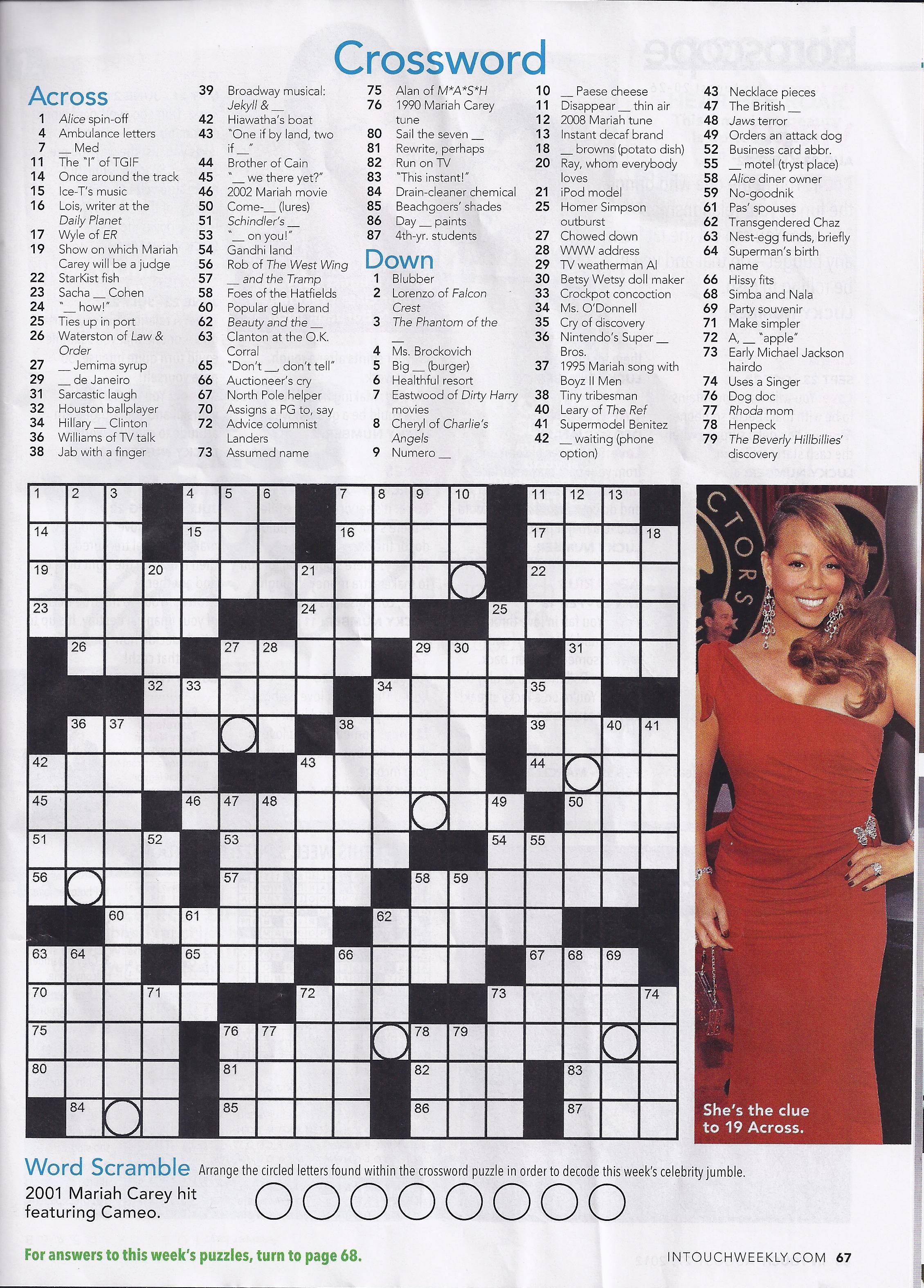 Printable People Magazine Crossword Puzzles Printable Crossword Puzzles Crossword Puzzles Printable Crossword Puzzles People Magazine