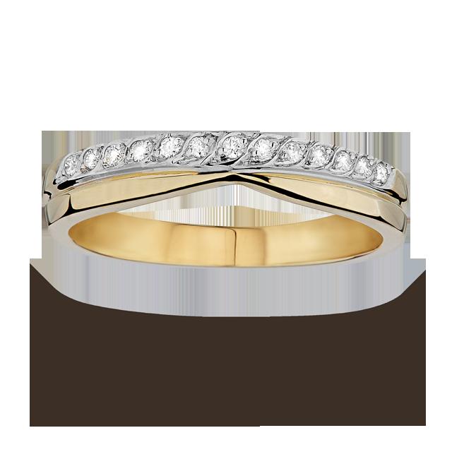 Ladies diamond set shaped 4mm wedding ring in 18 carat yellow gold
