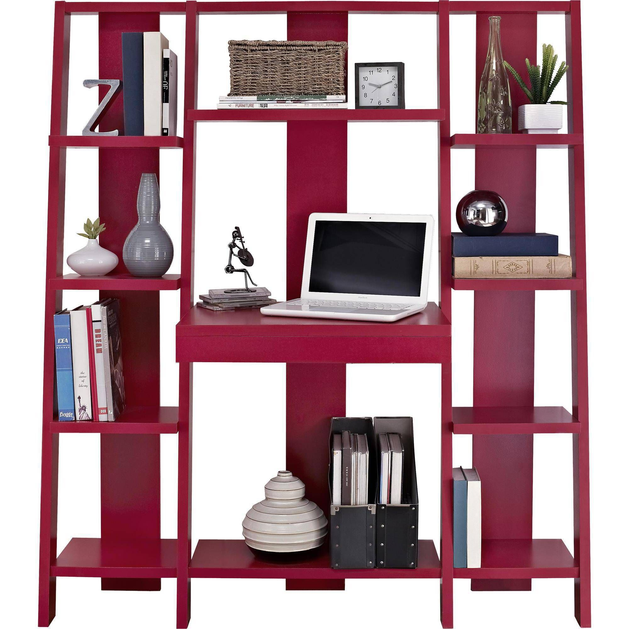 espresso bookshelf gradient table desk furniture ladder laptop bookcase office ameriwood p home computer workstation and