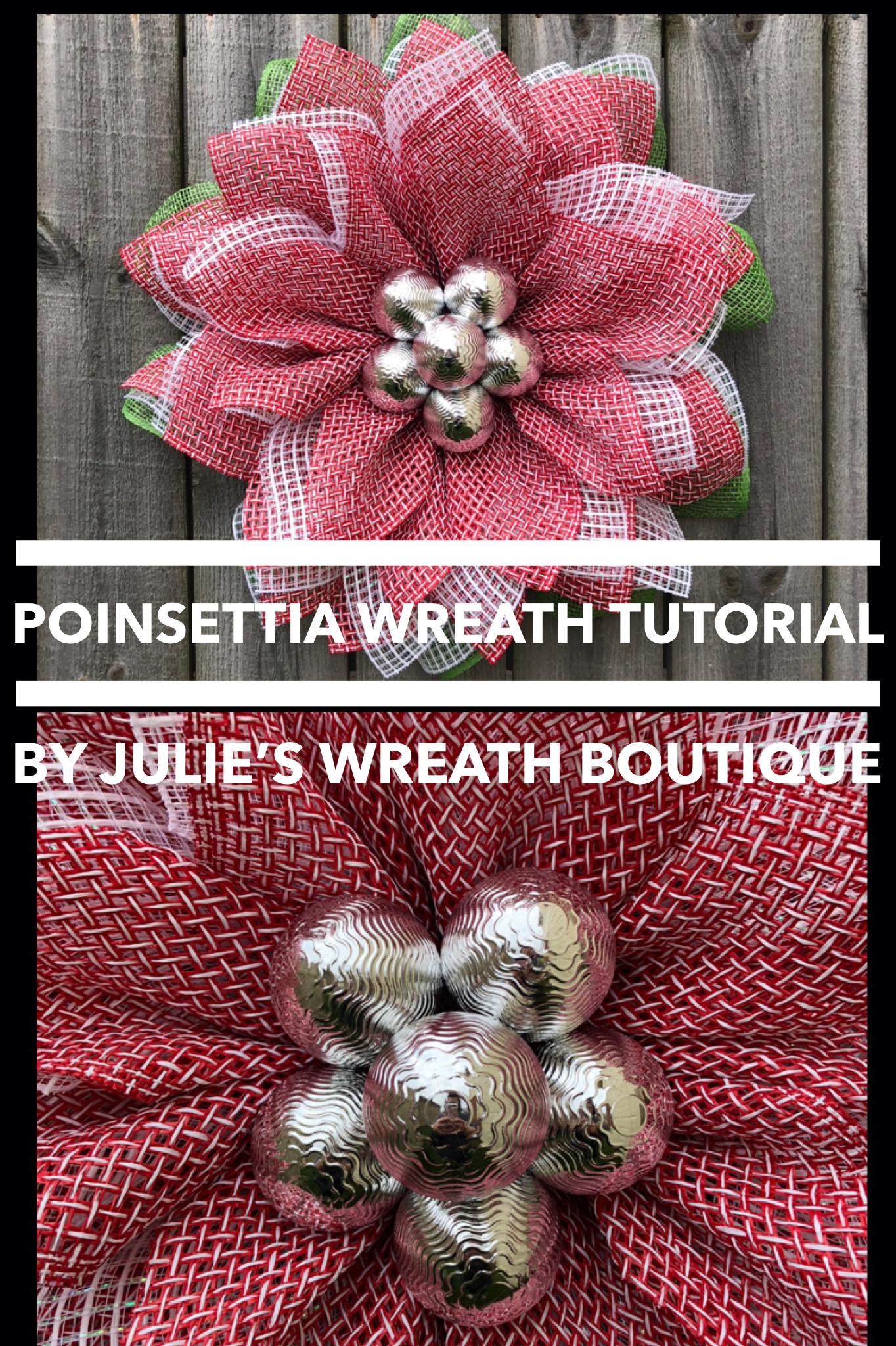 Photo of Poinsettia Wreath TUTORIAL