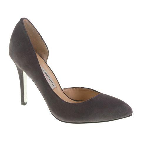 Copertina heels in grey, $100.00