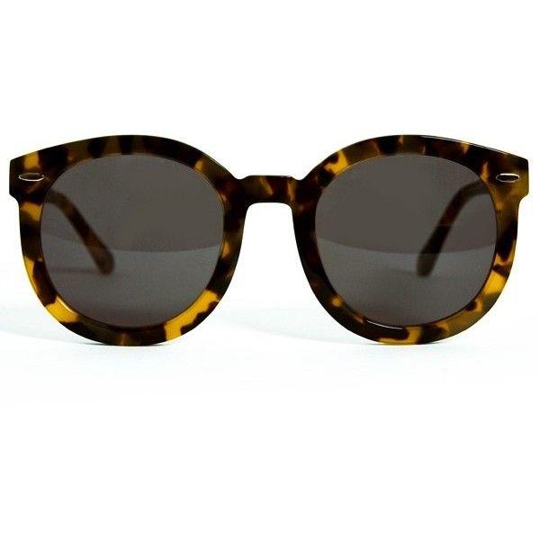 94bef32cd44 Karen Walker Eyewear Super Duper Strength- Crazy Tortoise ( 250) ❤ liked on  Polyvore