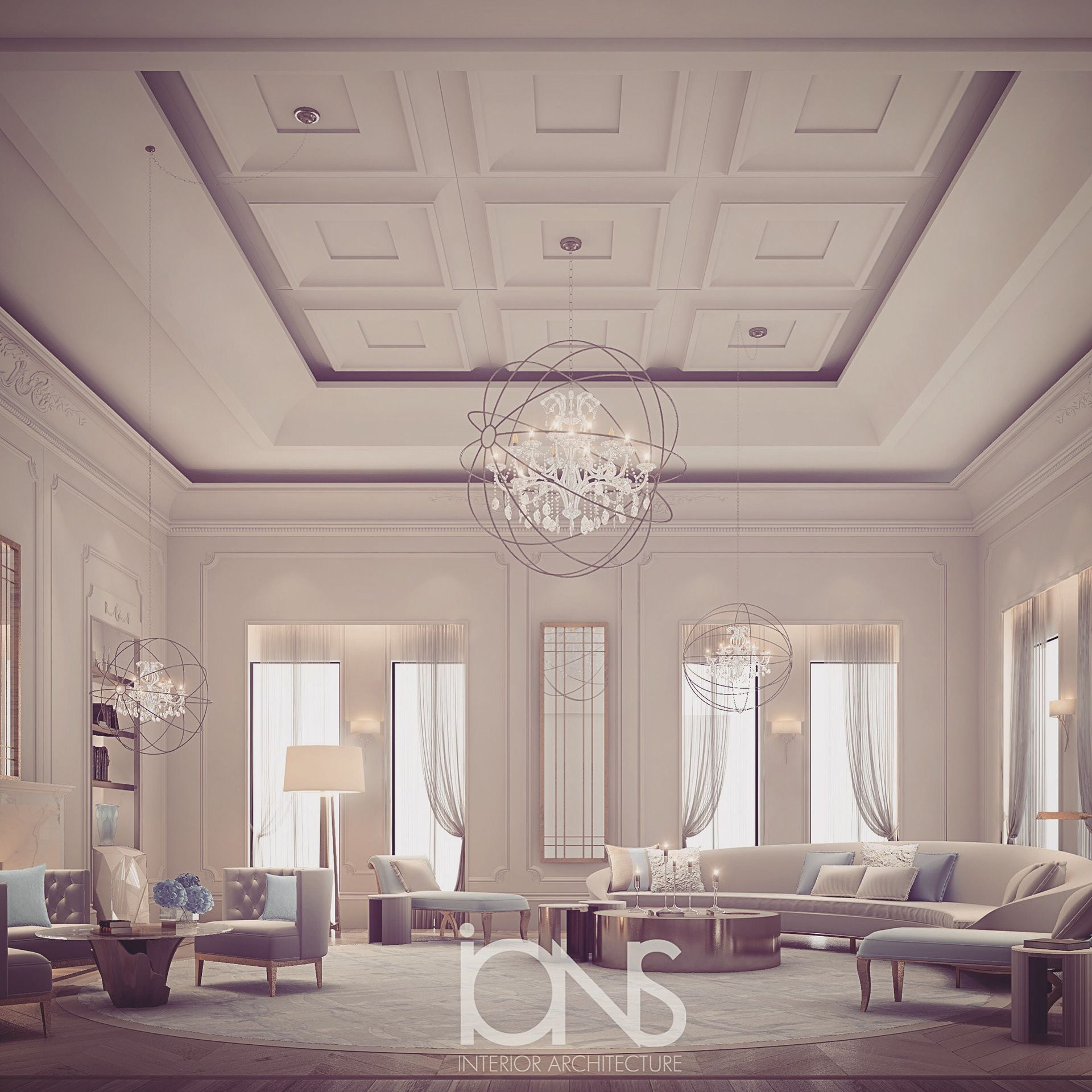 Family Home Interior Design Luxury Rooms: High-spirited And Cozy Living Room Design On Behance