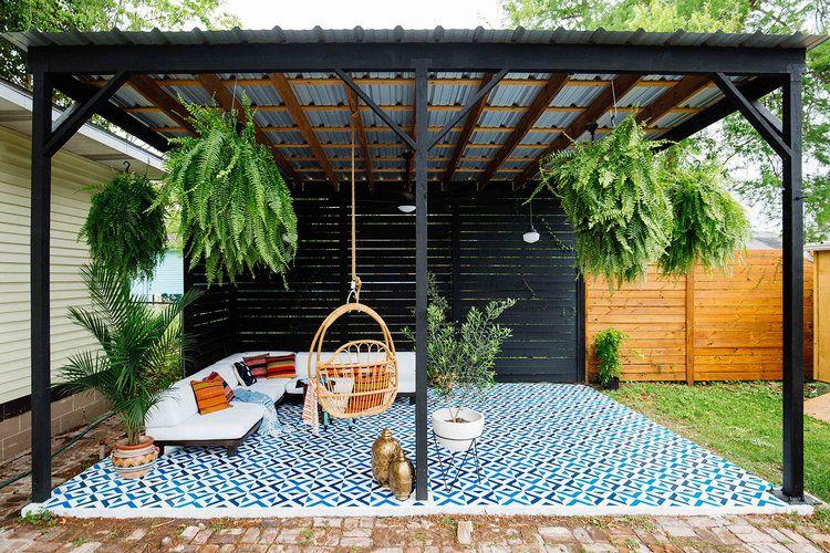 Patio Diy Painted Floor Tiles Backyard Ideas Pinterest