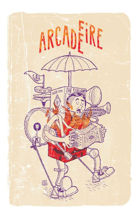 Arcade Fire Poster by CaliDosO in Illustrations