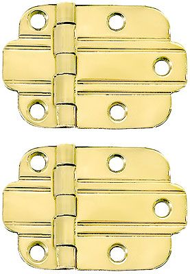 Pair of Solid Brass Art Deco Surface Cabinet Hinges With Choice of Finish | House of  sc 1 st  Pinterest & Pair of Solid Brass Art Deco Surface Cabinet Hinges With Choice of ...