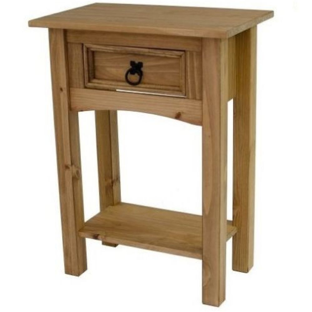 New Furniture Corona 1 Drawer Console Table Mexican Solid Pine