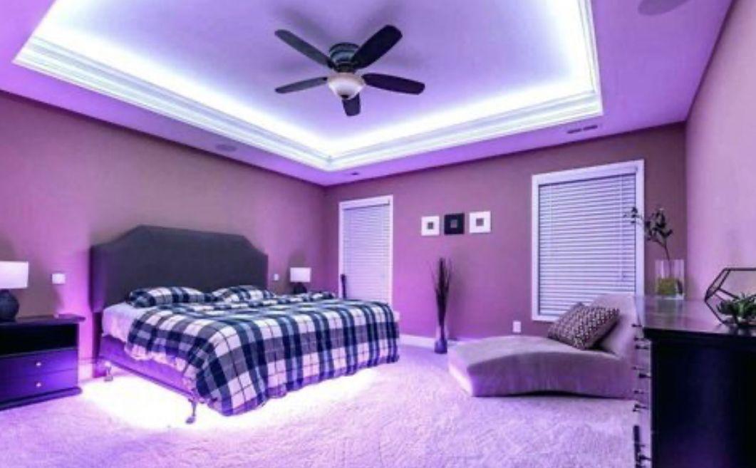 Led Strip Light W Remote Control Led Lighting Bedroom Bedroom Setup Led Strip Lighting