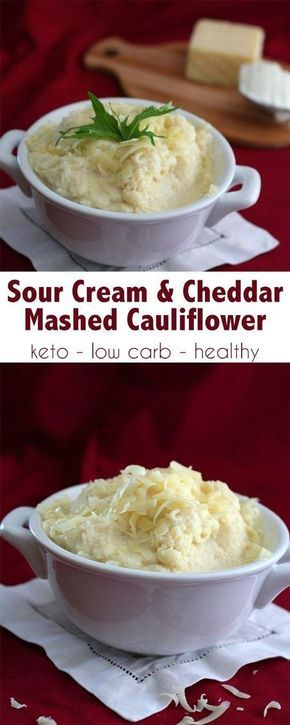 Photo of Sour Cream and Cheddar Mashed Cauliflower