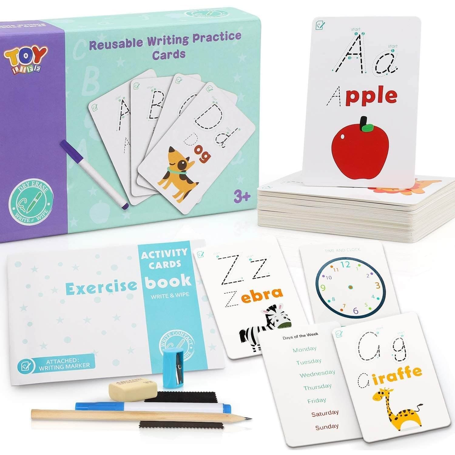 Alphabet and Sight Words Dry Erase Flashcards