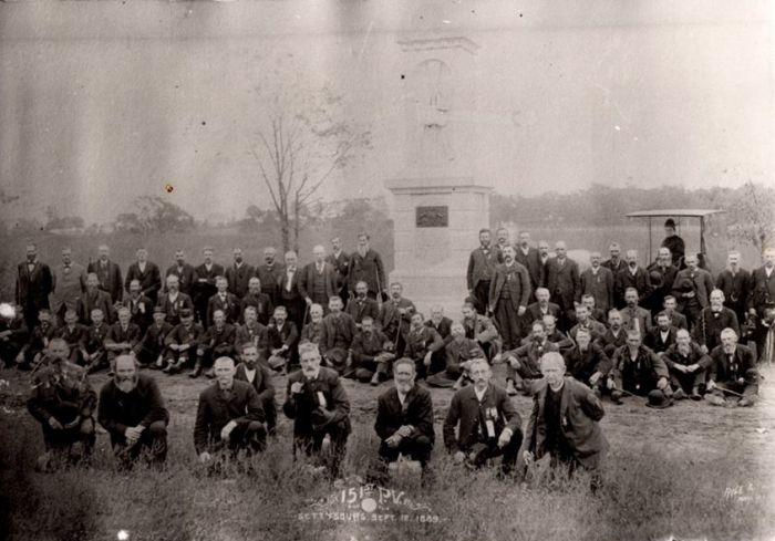 151st pennsylvania volunteers dedication of the monument