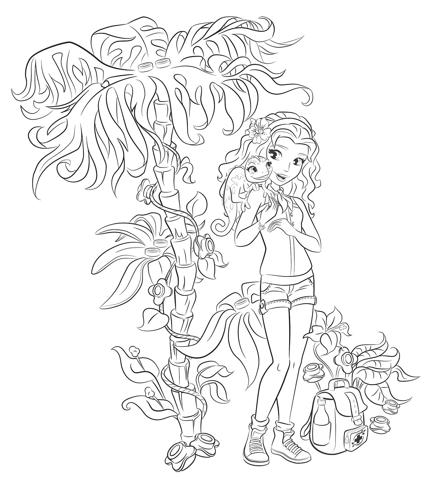 Emma From Lego Friends Colouring Pages