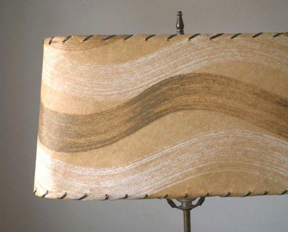 Mid Century Fiberglass Lampshade Vintage Lampshade by 5gardenias, $55.00