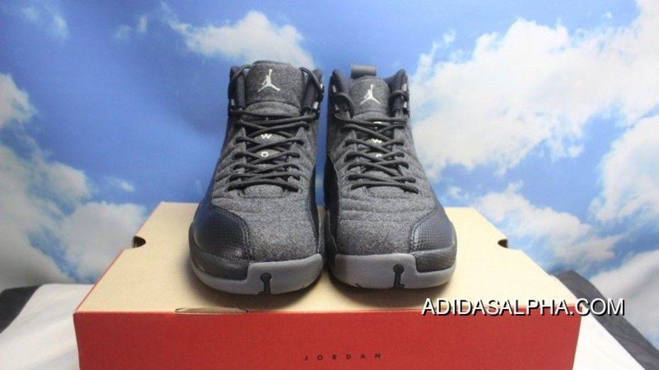 b469d530784 AJ12 Black Sheep Wool All Black Air Jordan 12 Wool 852627-003 Free Shipping