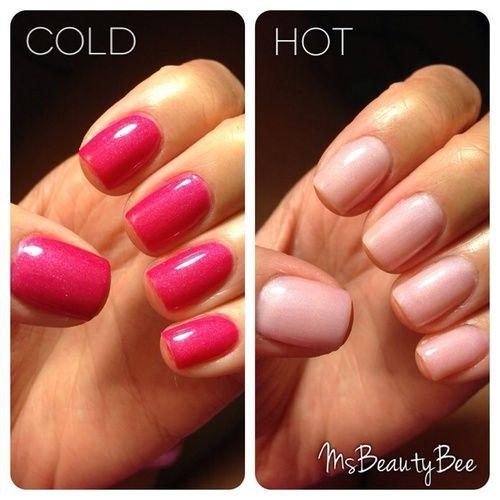 Nails Gelish Amp Konad Lechat Angel S Breeze Color Changing Mood Gel Polish Changes From Hot