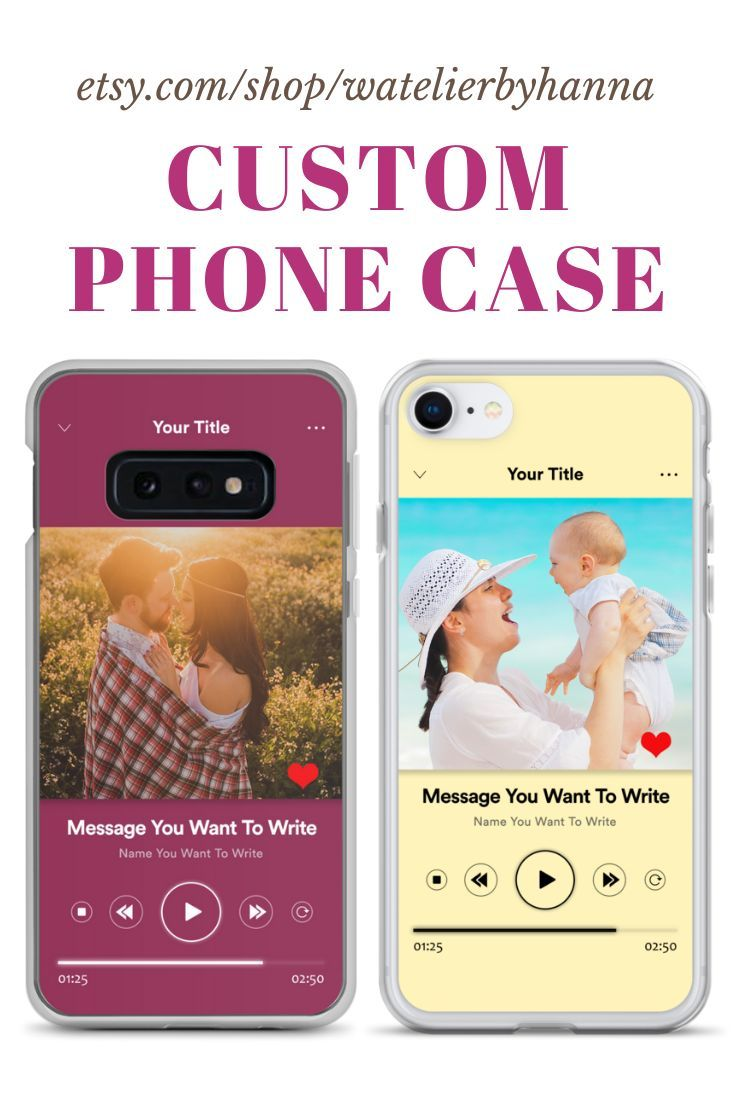 Custom iphone case music player theme personalized phone