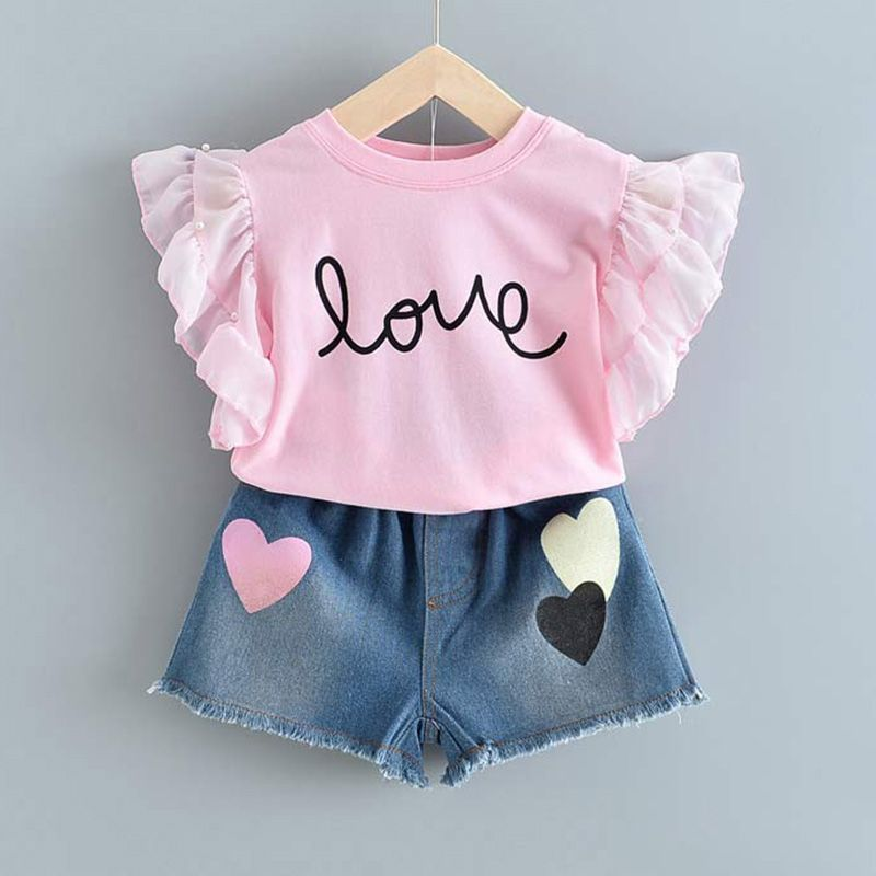 Ropa Para Ninas Con Diseno De Oso Leader Moda 2020 Camisa Para Ninas Con Lazo Y Flores Pantalones Cor Navy Blue Floral Shirt Outfit Sets Girls Clothing Sets