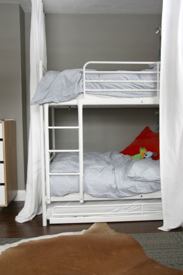Ikea Svarta Bunk Beds With Trundle Can Sleep Three Kids In Small