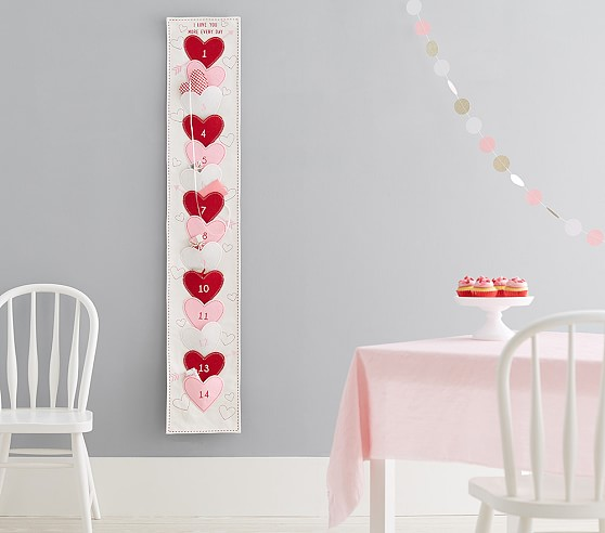 Valentine S Day Heart Advent Calendar Valentines Day