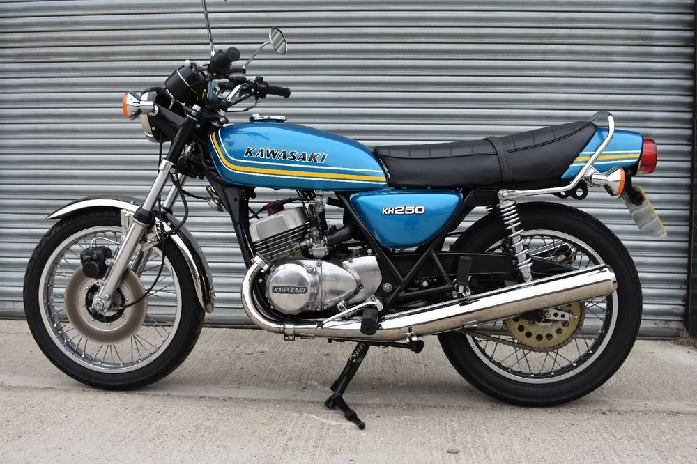 eBay: 1976 KAWASAKI KH250 TRIPLE IN SUPERB RESTORED