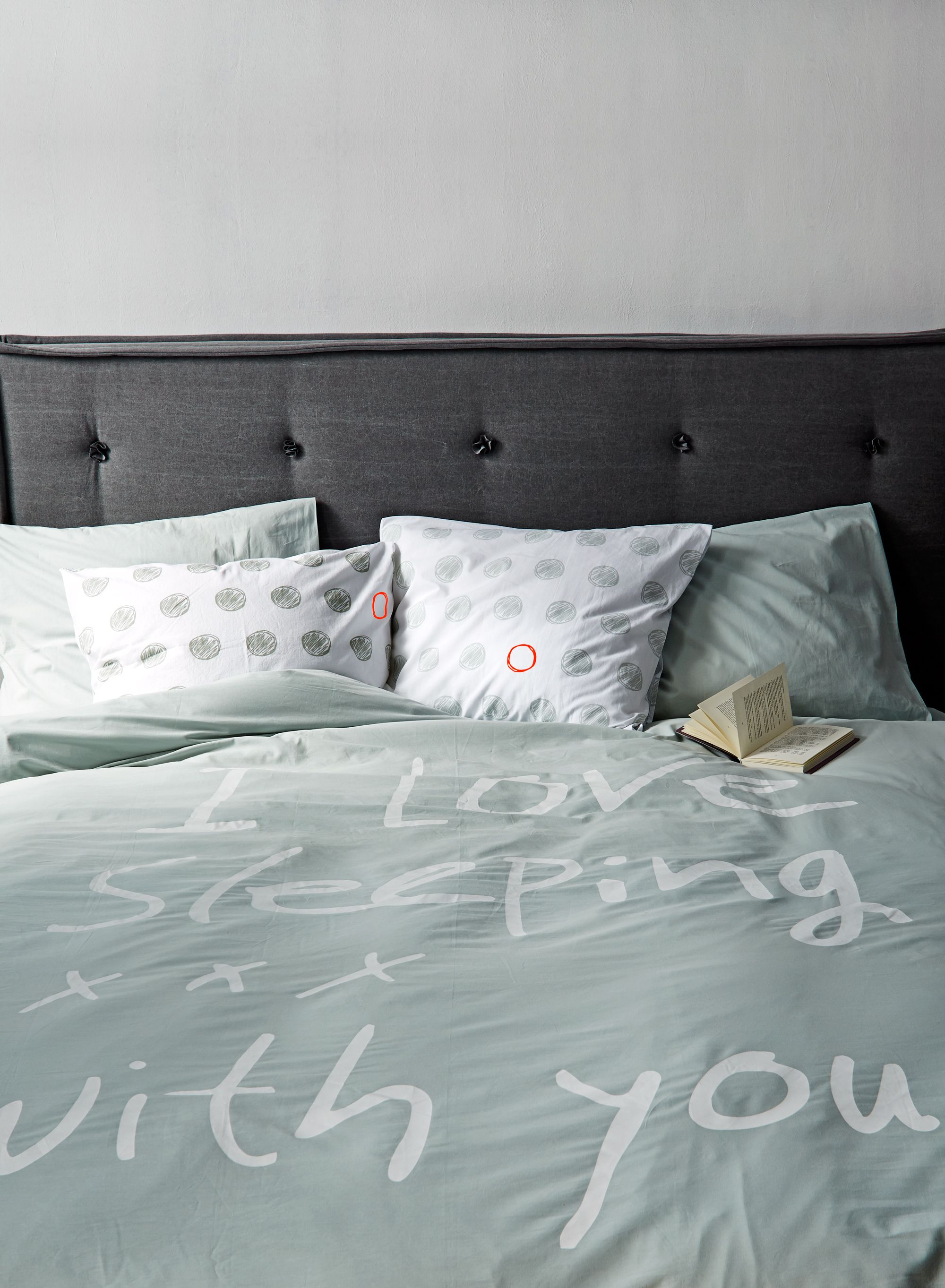 duvet i love sleeping with you in celadon white and natural antra