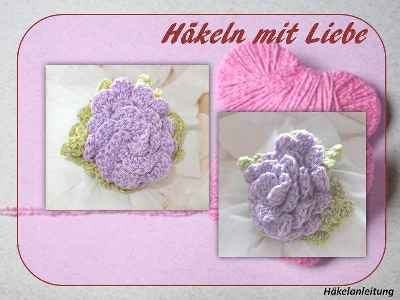 Rose  Häkelanleitung von berli design meine Häkelwelt für Groß und Klein auf DaWanda.com