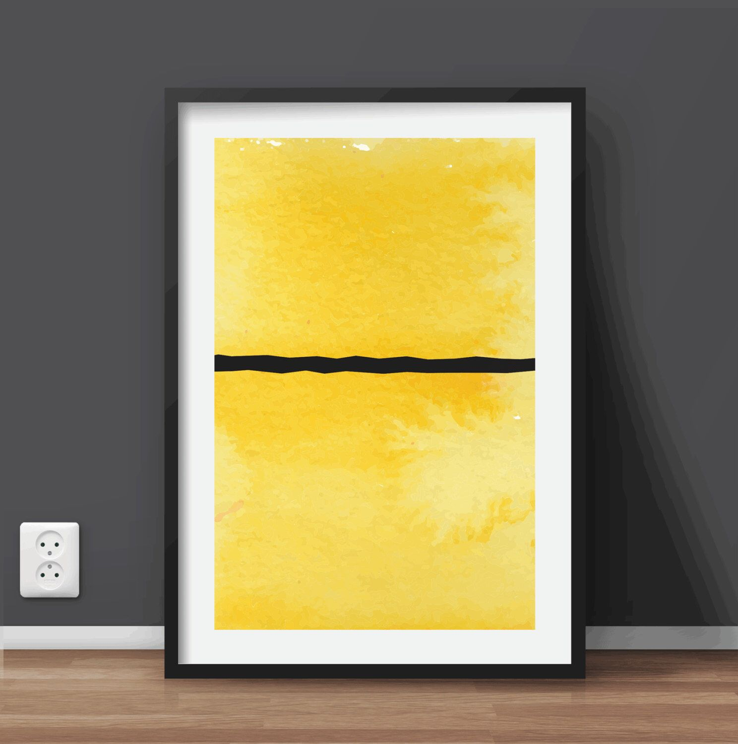 Minimal Watercolor Abstract Geometric Art | Printable art scalable ...