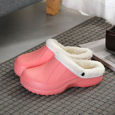 Photo of Winter Womens Mens Slippers Indoor Outdoor Plush Lined Warm House Indoor Shoes #…