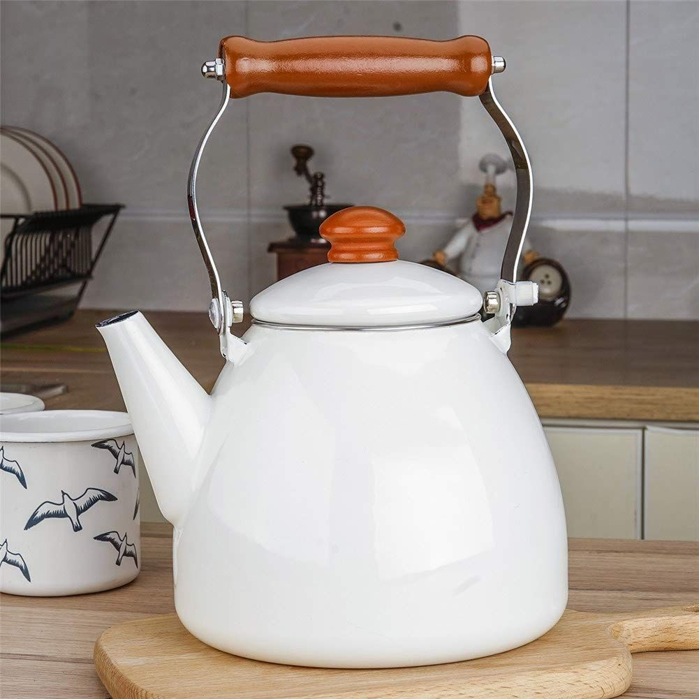 Water kettles l ceramic teapot enamel red suitable for