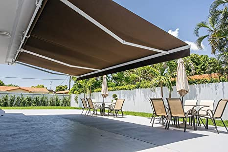 Amazon Com Rolling Shade Motorized Awning Sunbrella Fabric 20 X 12 Taupe Tailored 4945 Garden Outdoor In 2020 Rolling Shades Outdoor Awning