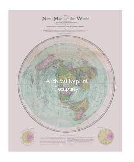 The new map of the world flat earth circa 1899 chri https the new map of the world flat earth circa 1899 christopher gleason rare in home garden home dcor posters prints gumiabroncs Image collections