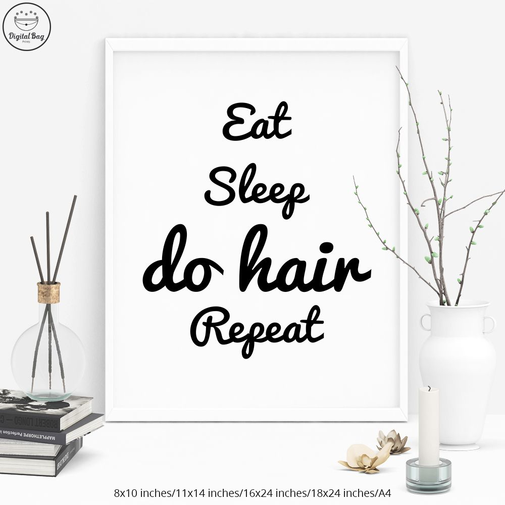 Hair Salon Wall Art Hairdresser Gift Digital Download Hair Etsy Salon Wall Art Salon Print Hair Salon Decor