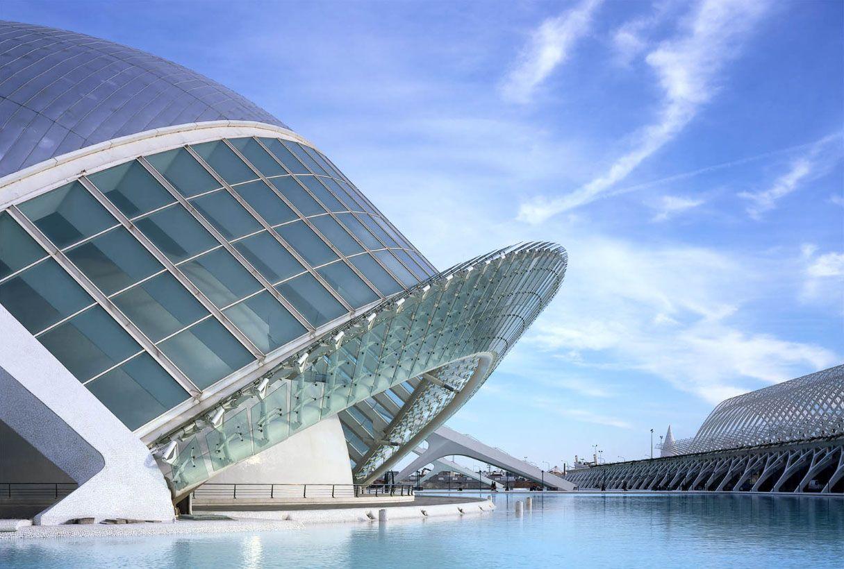 Santiago Calatrava Hemisferic Ciudad De Las Artes Y Las Ciencias Valencia España 1998 Architecture Valencia Santiago Calatrava