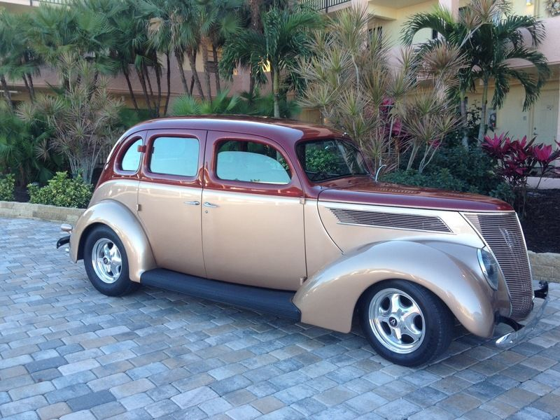 1937 Ford Slantback 4 Door All Steel For Sale Commerce Twp Michigan Old Car Online Muscle Cars For Sale Ford Sedan
