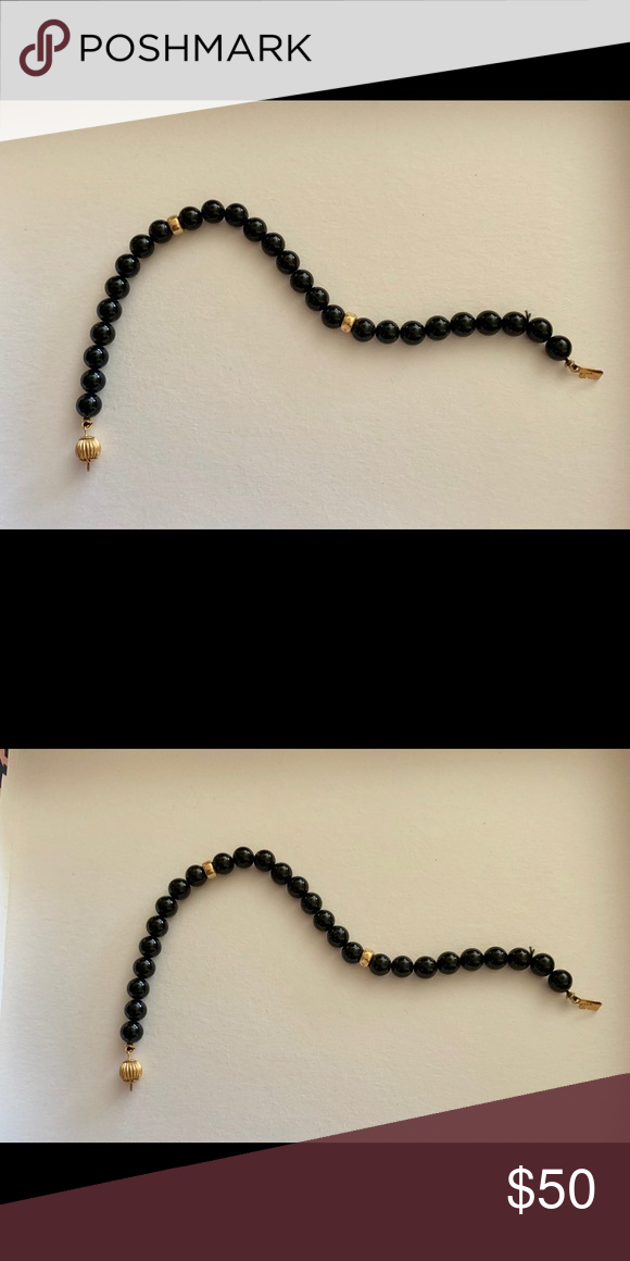 BLACK PEARL gold bracelet