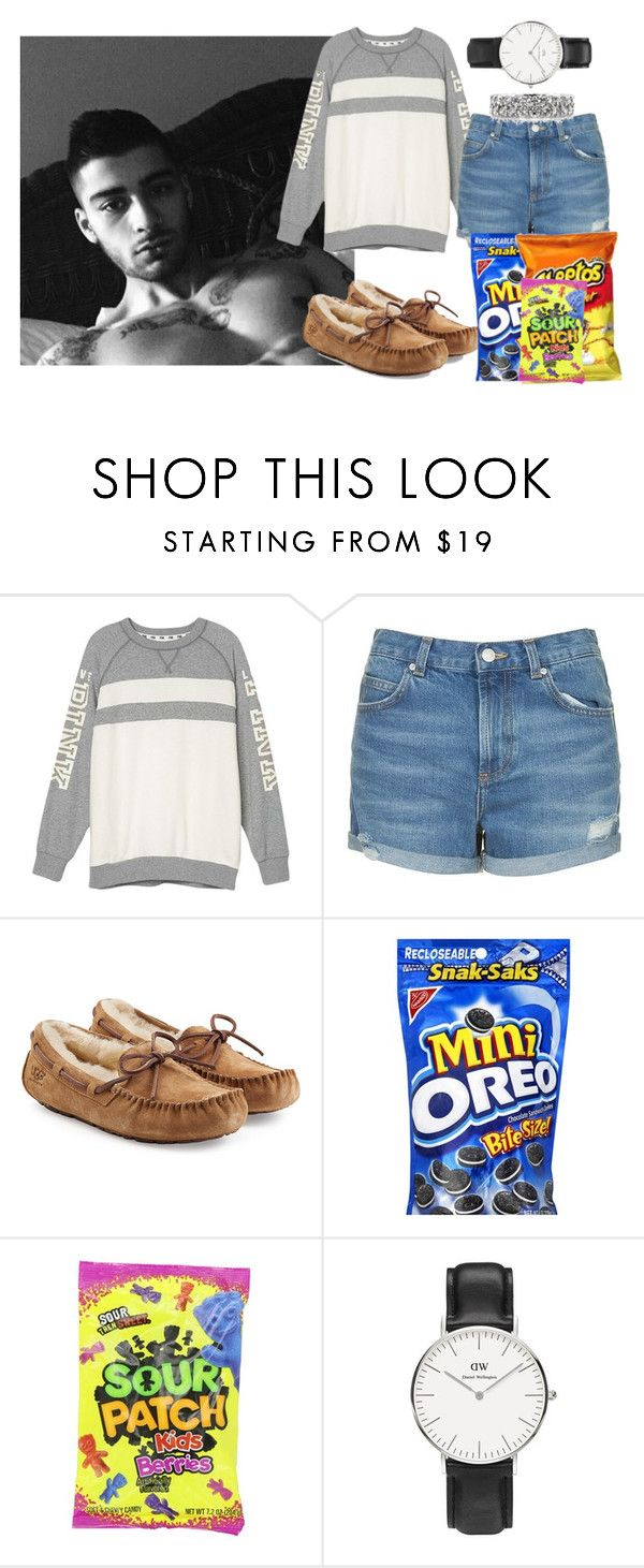 """Home with Zayn!"" by directionermixer01 ❤ liked on Polyvore featuring Topshop, UGG Australia, Daniel Wellington and Mark Broumand"