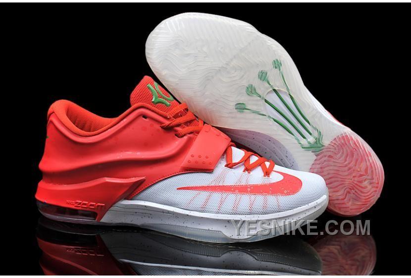 Big Discount  66 OFF Nike Kevin Durant KD 7 VII Christmas Egg Nog WhiteRed For Sale Online