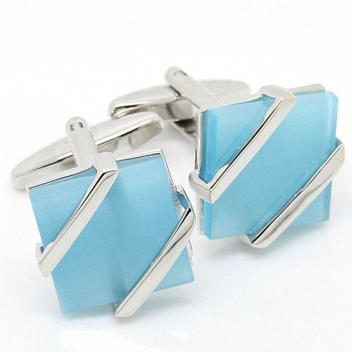 Square Blue Onyx Cufflinks
