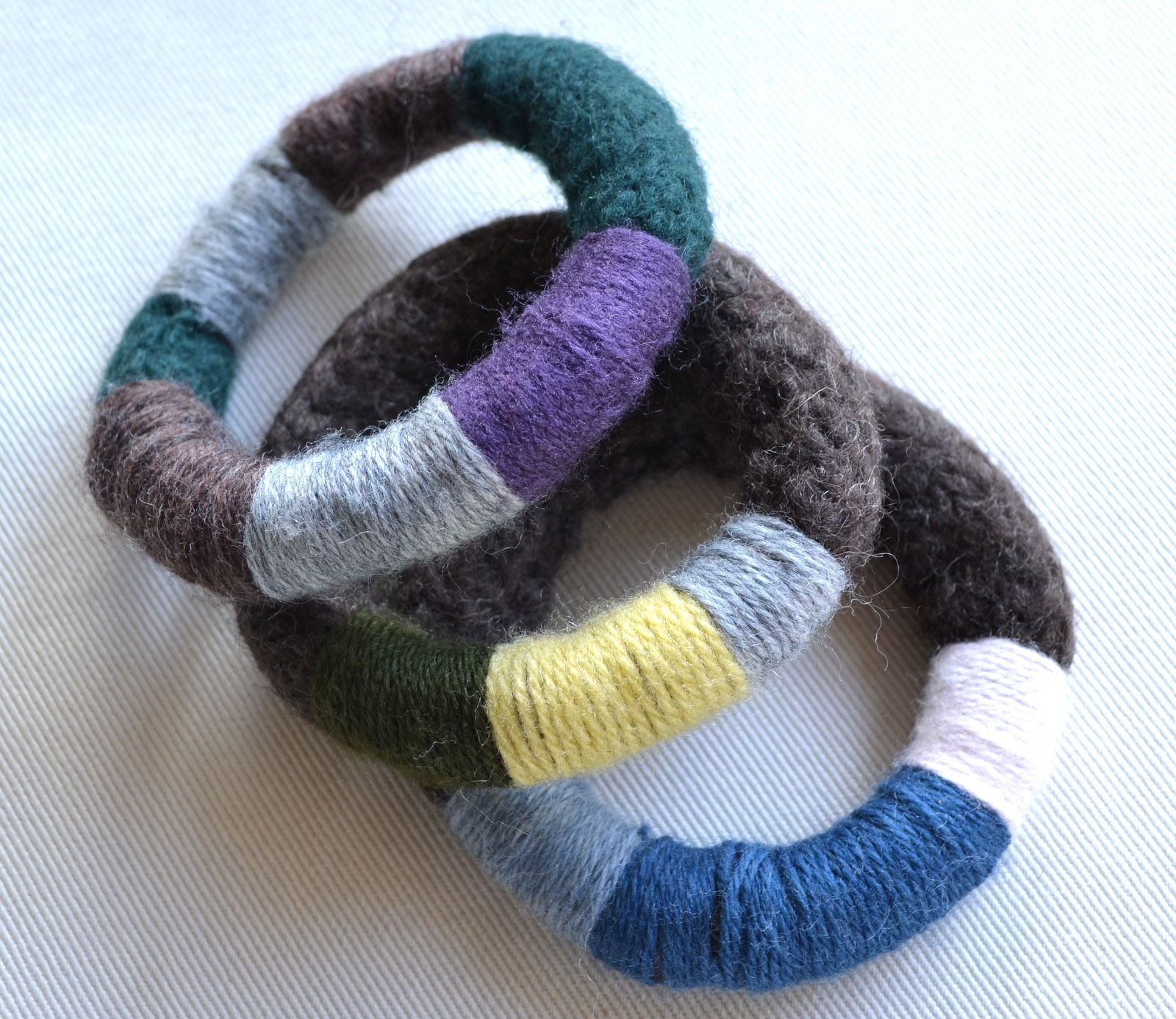 Felted Bracelets In Many Colours