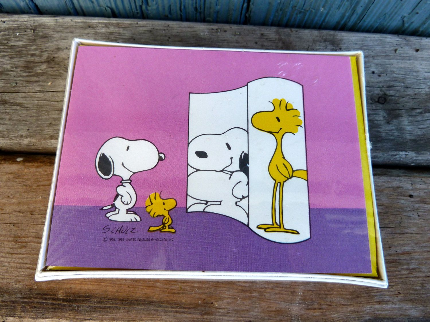 Vintage Hallmark Greeting Cards Featuring Snoopy And Woodstock From