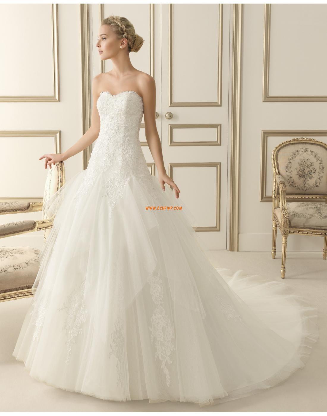 Elegant & Luxuriös 3/4 Arm Reißverschluss Brautkleider 2014 ...