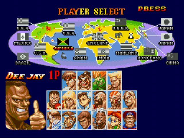 Super Street Fighter 2 Character Selection Street Fighter Characters Street Fighter Super Street Fighter