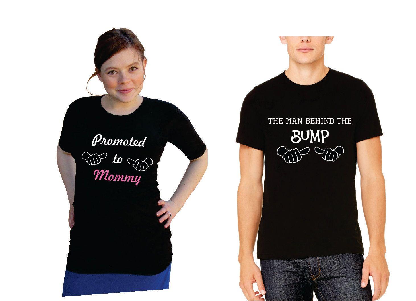 30ab1c8254fec Cute expecting Mom & Dad shirts set. Funny