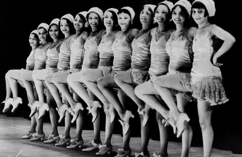 Women of color chorus line