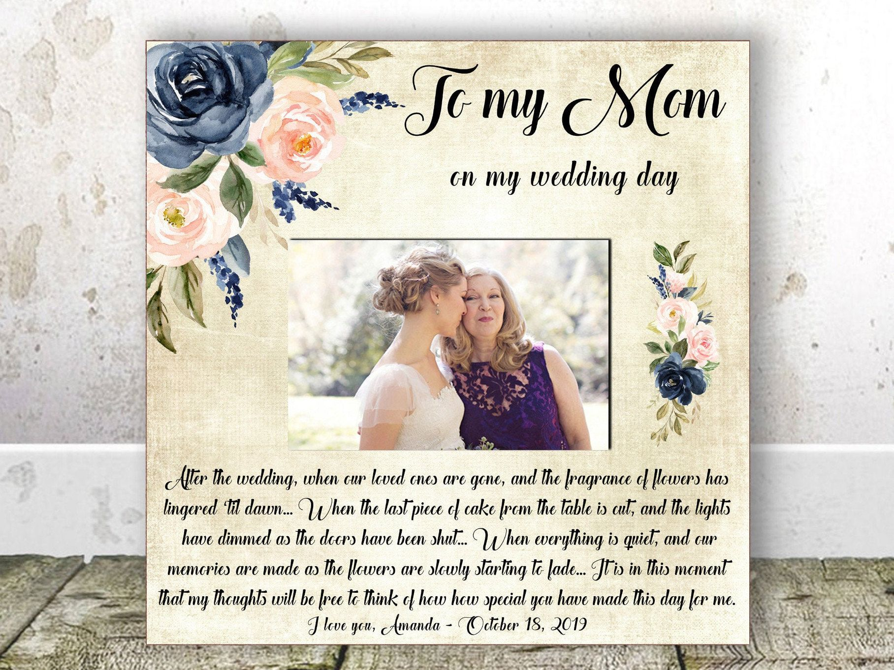 Mother Of The Bride Gift From Daughter Mom Wedding Gift Rehearsal