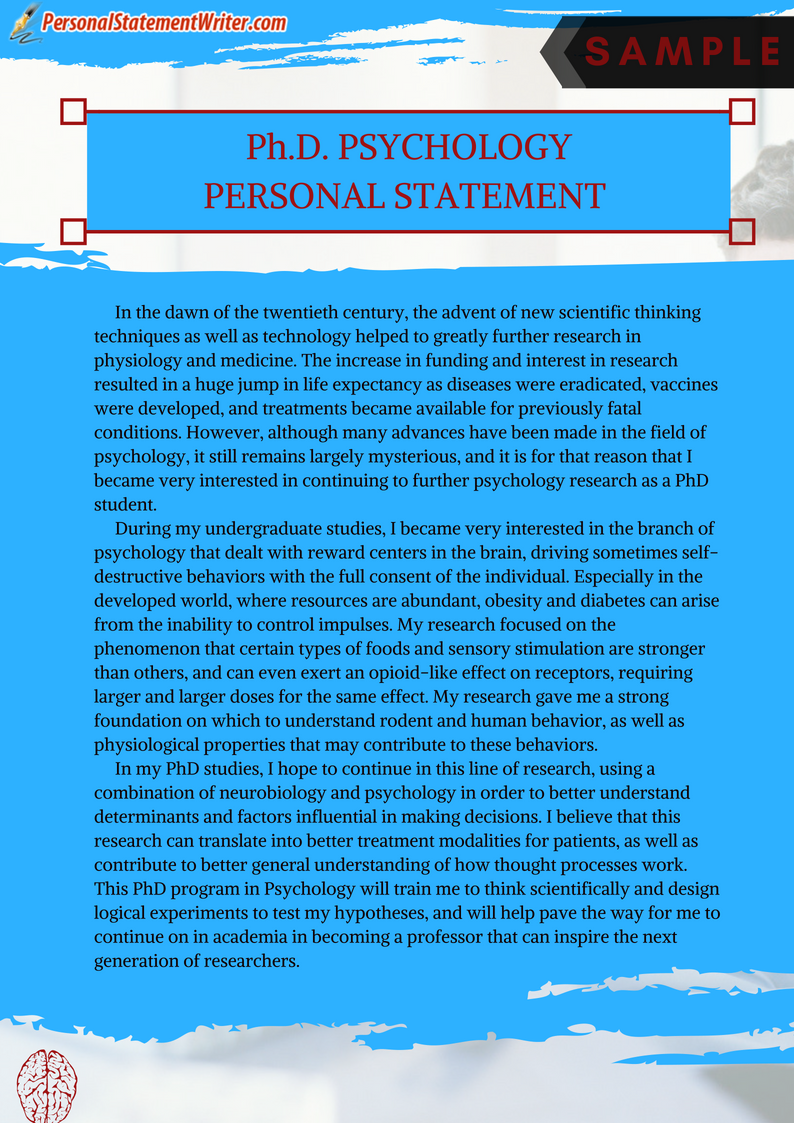 Click Here To Get Personal Statement Sample For Phd Psychology Http Www Personalstatementwr Grad School Clinical Doctorate Example Uk