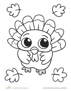 Easy Printable Thanksgiving Coloring Pages Collection